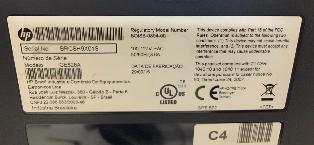 Impressora HP LaserJet P3015 Monocromática - Não enviamos