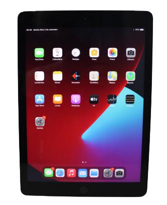 """iPad 5 MP262BZ/A 128GB 9.7"""" Wifi - + 4G Cinza espacial"""