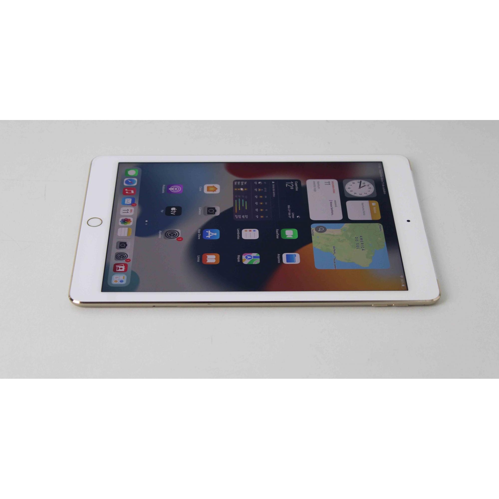 "iPad Air 2 MGHY2BR/A 9.7"" 64GB Wifi + 4G - Dourado"
