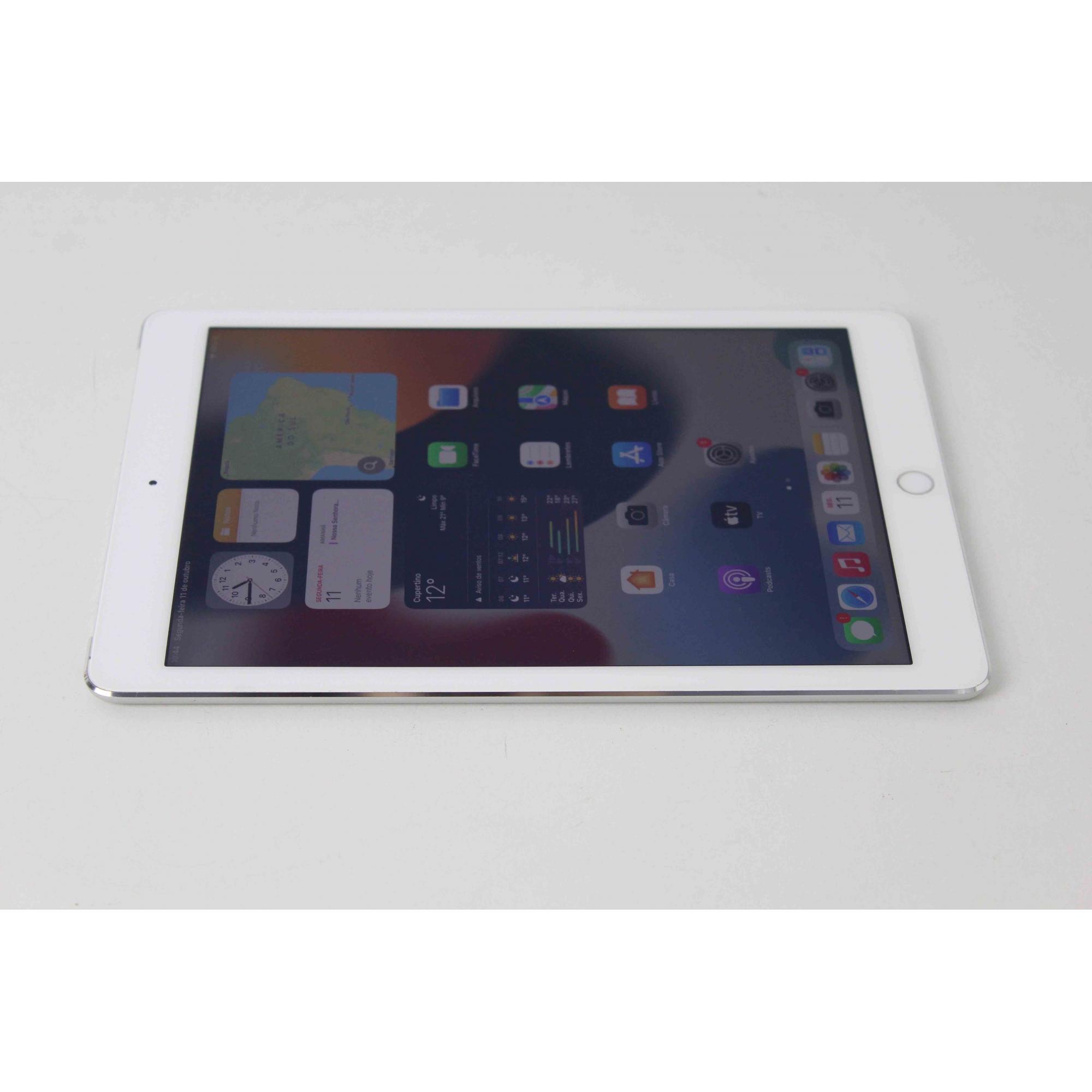 """iPad Air 2 MGHY2BR/A 9.7"""" 64GB Wifi + 4G - Silver (Não enviamos)"""