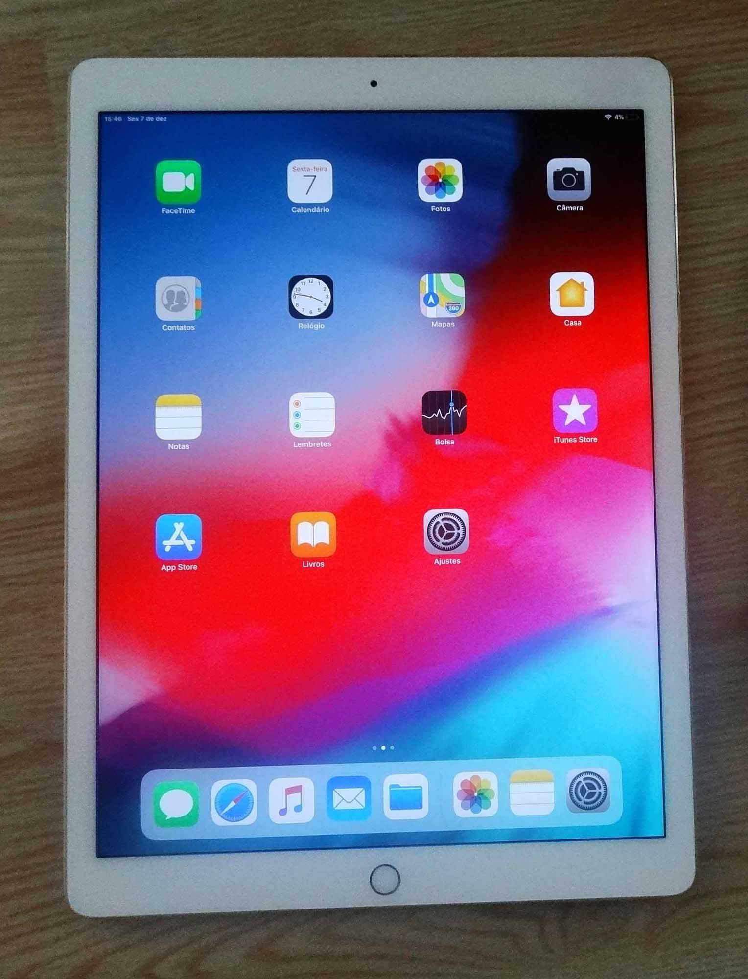 """iPad Pro Retina ML0R2BZ/A 12.9"""" 128GB Wi-Fi - Gold"""