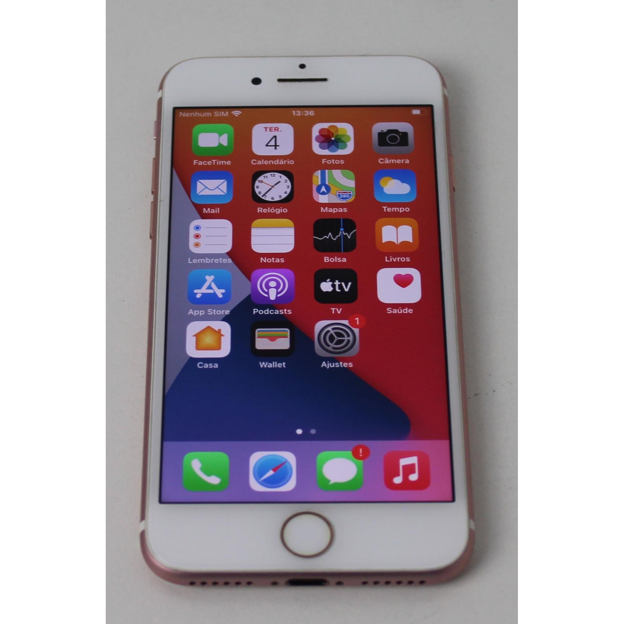 """IPHONE 7 MNAM2LL/A 4.7"""" 128GB - OURO ROSA (Não Enviamos)"""