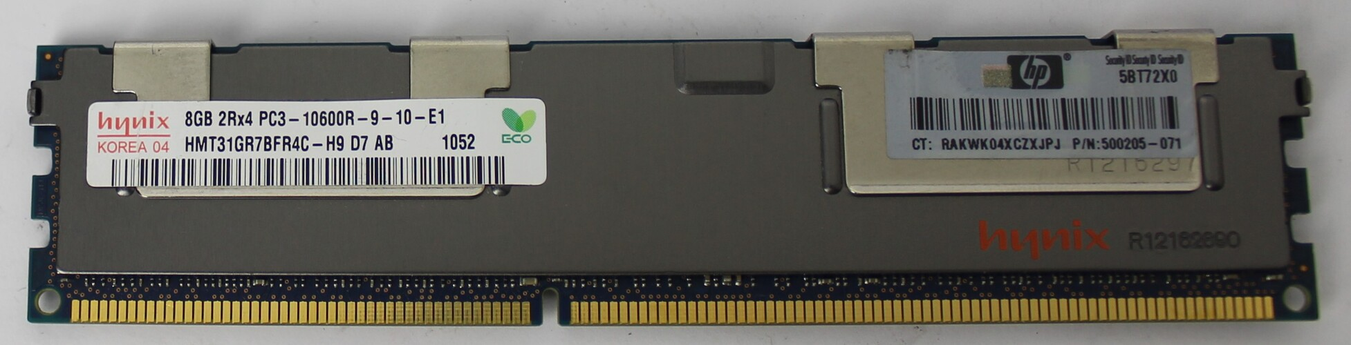 MEMORIA DE SERVIDOR HYNIX 8GB 2RX4 PC3-10600R-09-10-E1