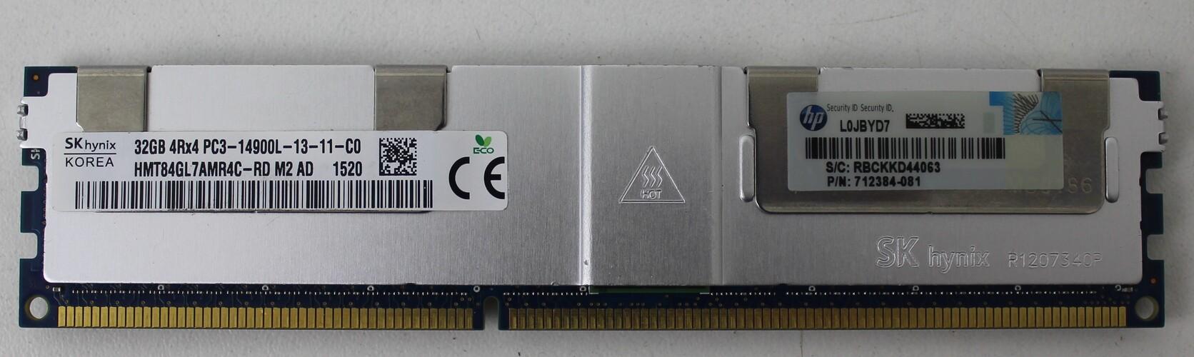 MEMORIA DE SERVIDOR SK HYNIX KOREA 32GB 4RX4 PC3-14900L-13-11-C0