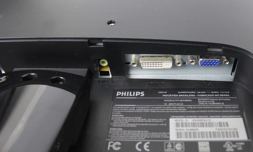 Monitor Philips 185Vw 18,5 Polegadas - Widescreen