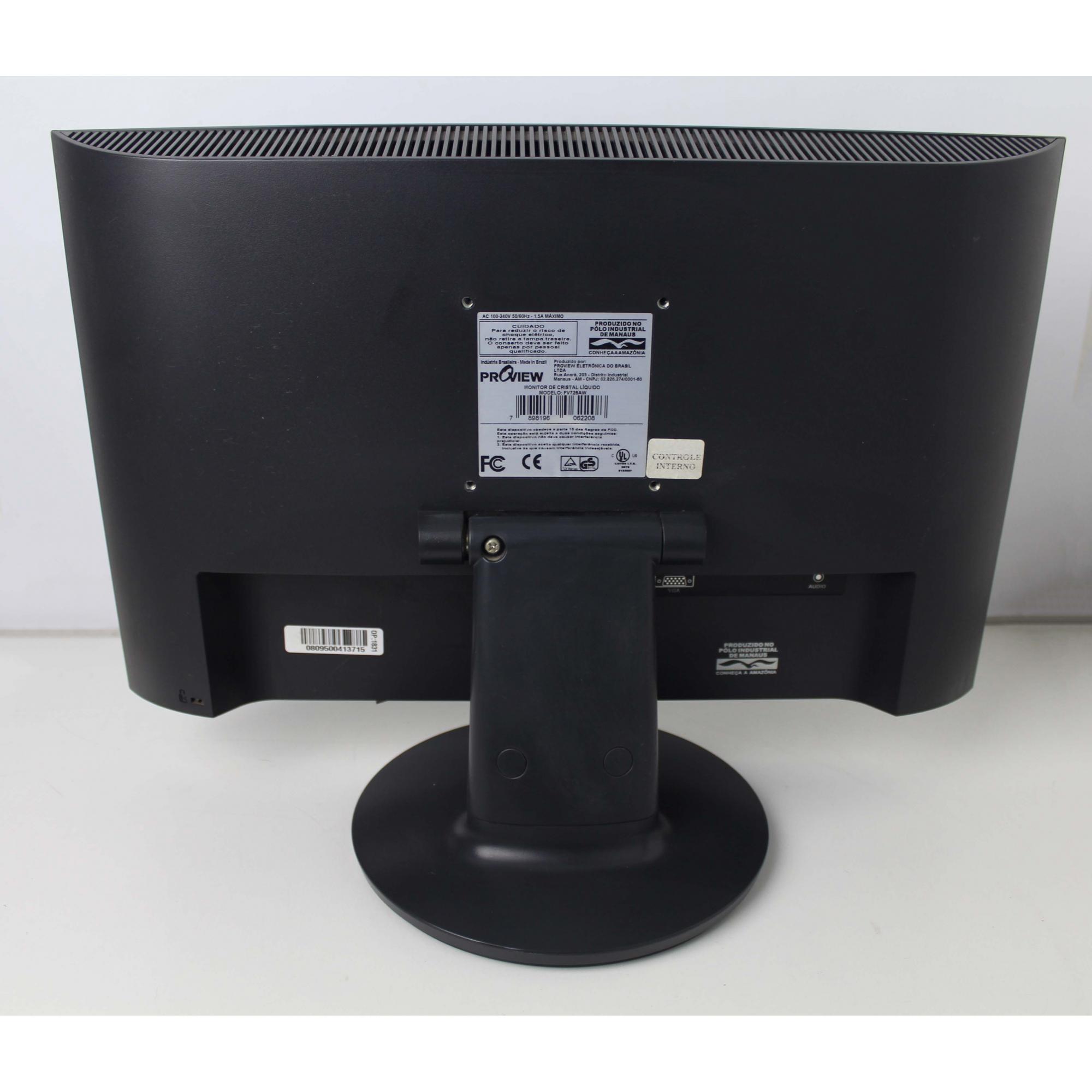 MONITOR PROVIEW FV726AW 17 POLEGADAS - LCD