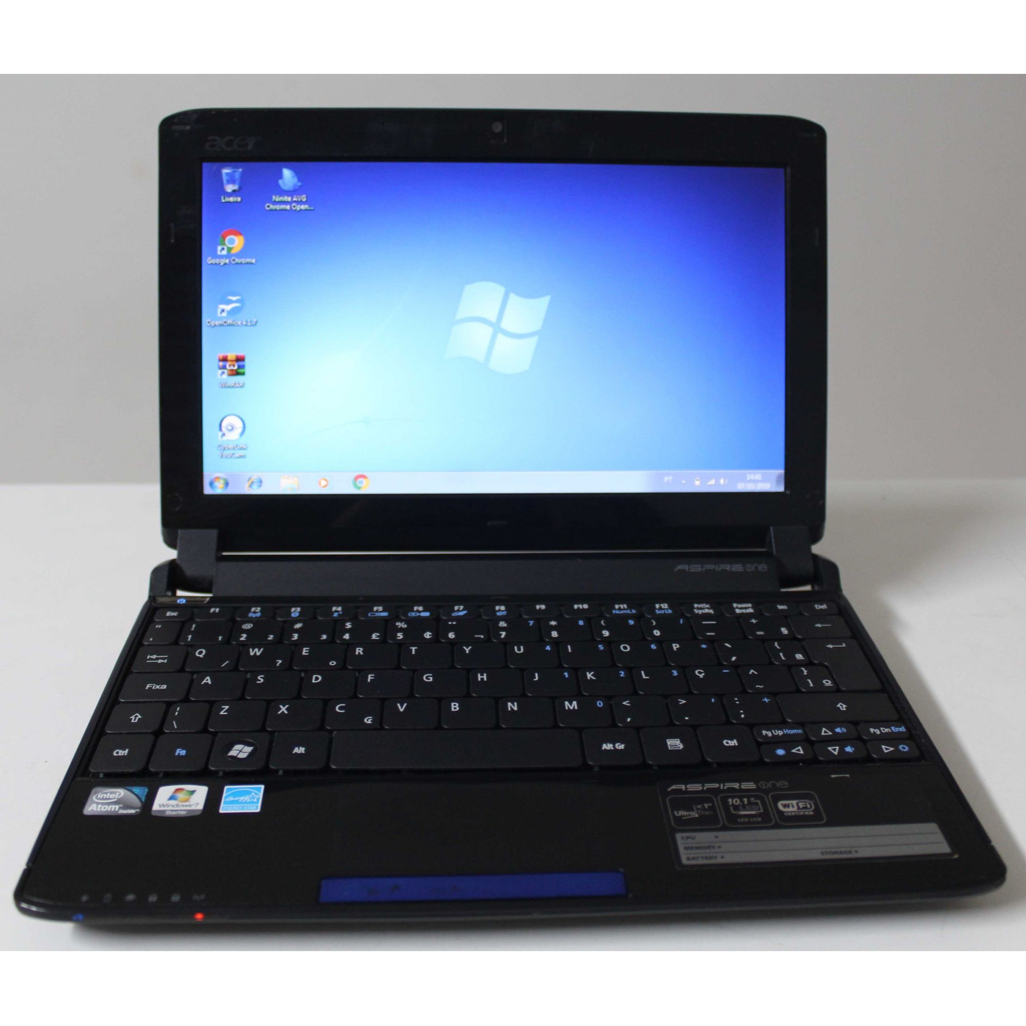 "Netbook Acer Aspire One NAV50 10.1"" Intel Atom 1.66GHz 2GB HD-160GB"