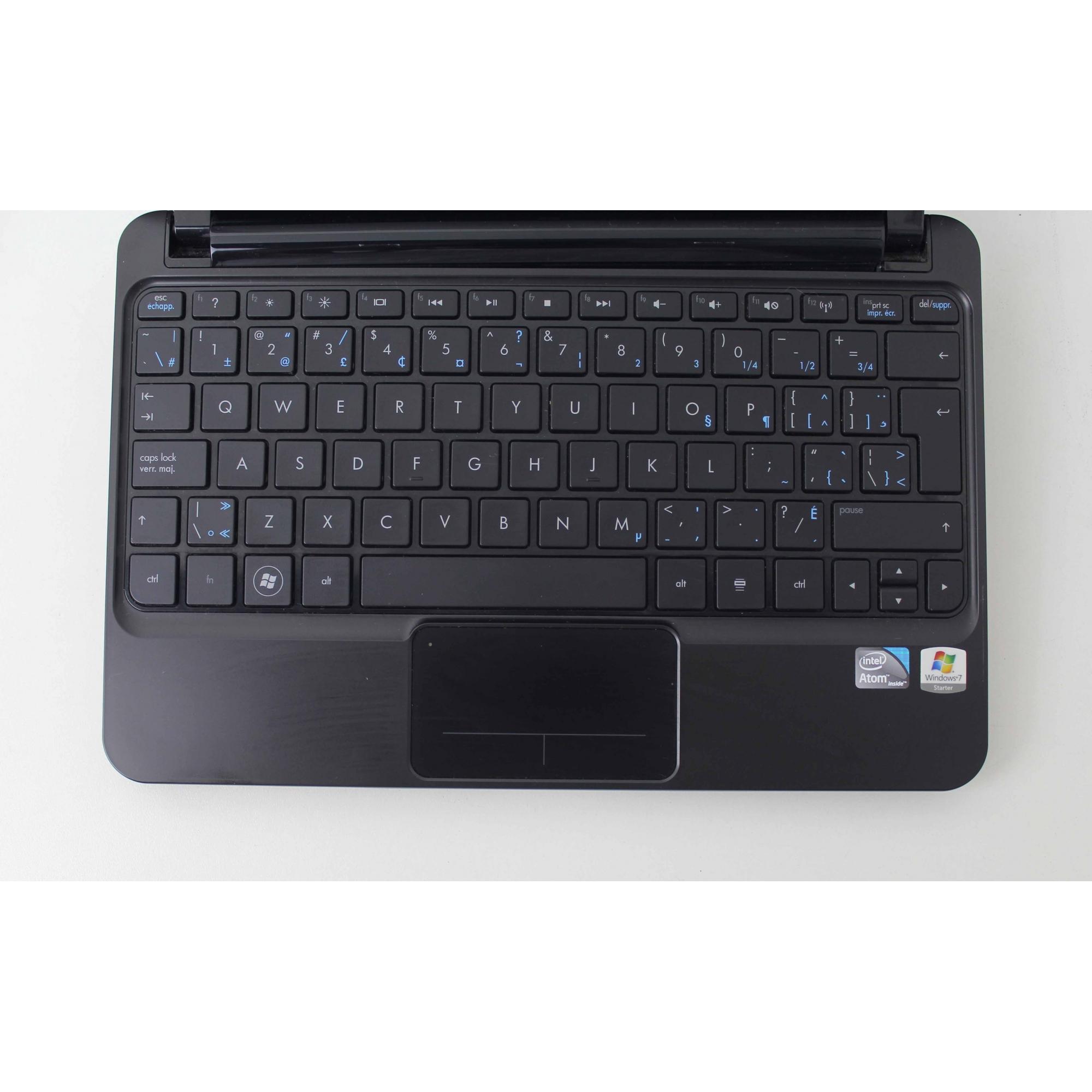 Netbook HP Mini 210 - 109NR 10.1'' Intel Atom CPU N455 1.66GHz 2GB HD-250GB