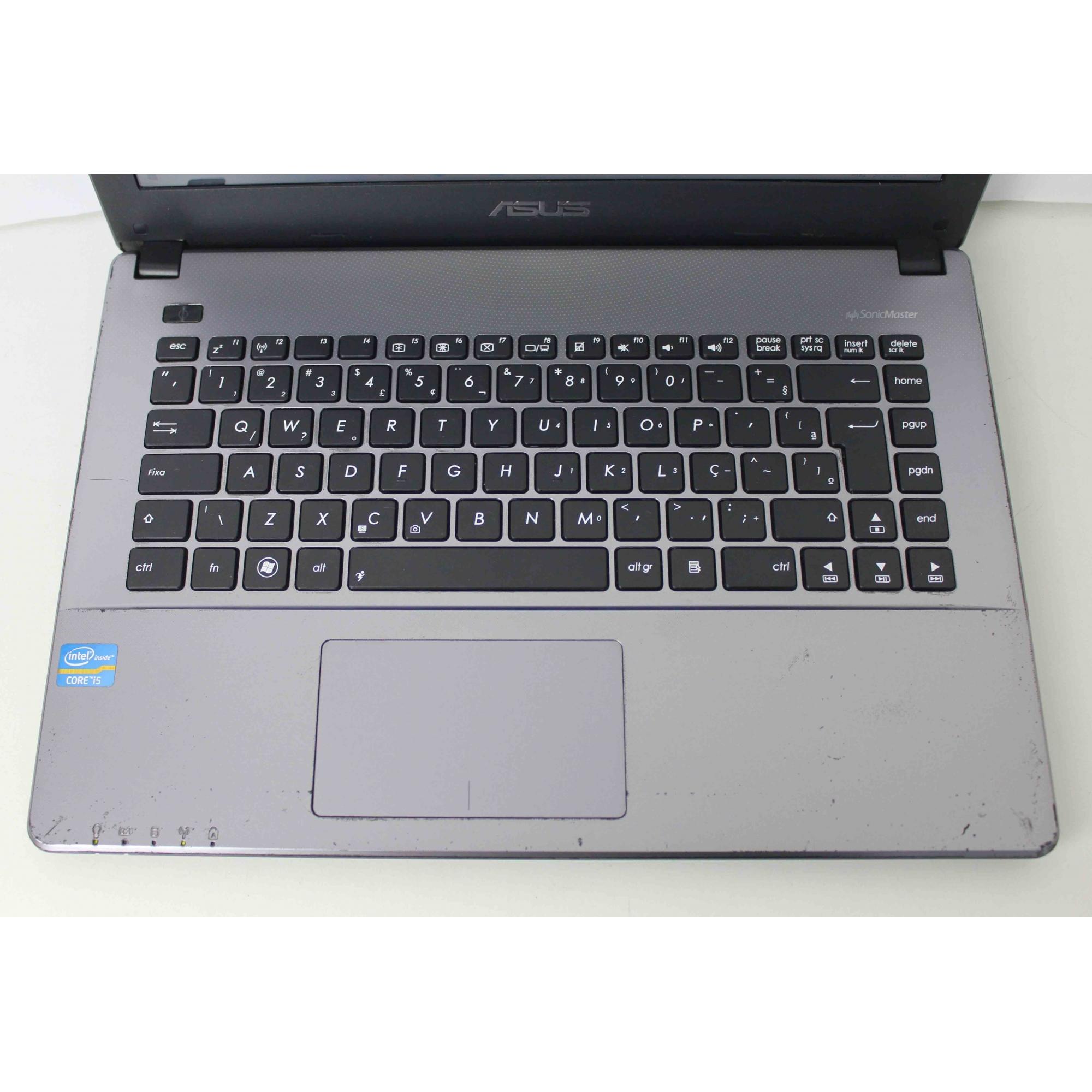 "Notebook Asus X450CA 14,0""  Intel Core I5 4GB HD-500GB - NÃO ENVIAMOS"