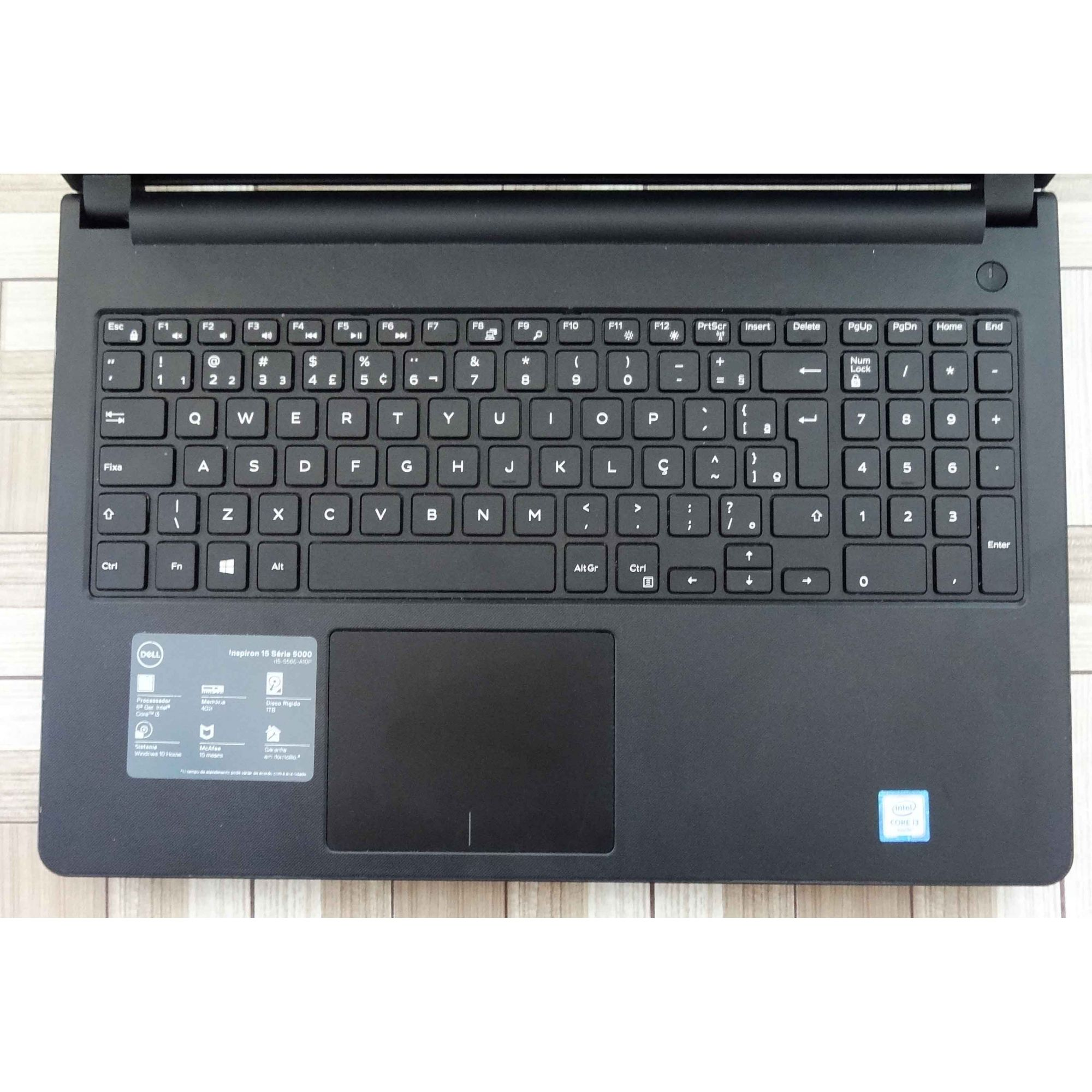 Notebook Dell Inspiron i15-5566-A10P 15.6'' Core i3 2GHz 4GB HD-1TB
