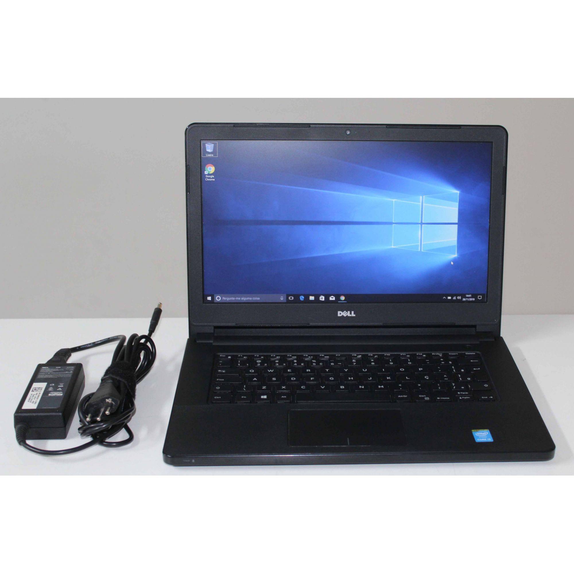 """Notebook Dell Vostro 14"""" 3458 Core i3 1.7Ghz 8GB SSD-256GB"""