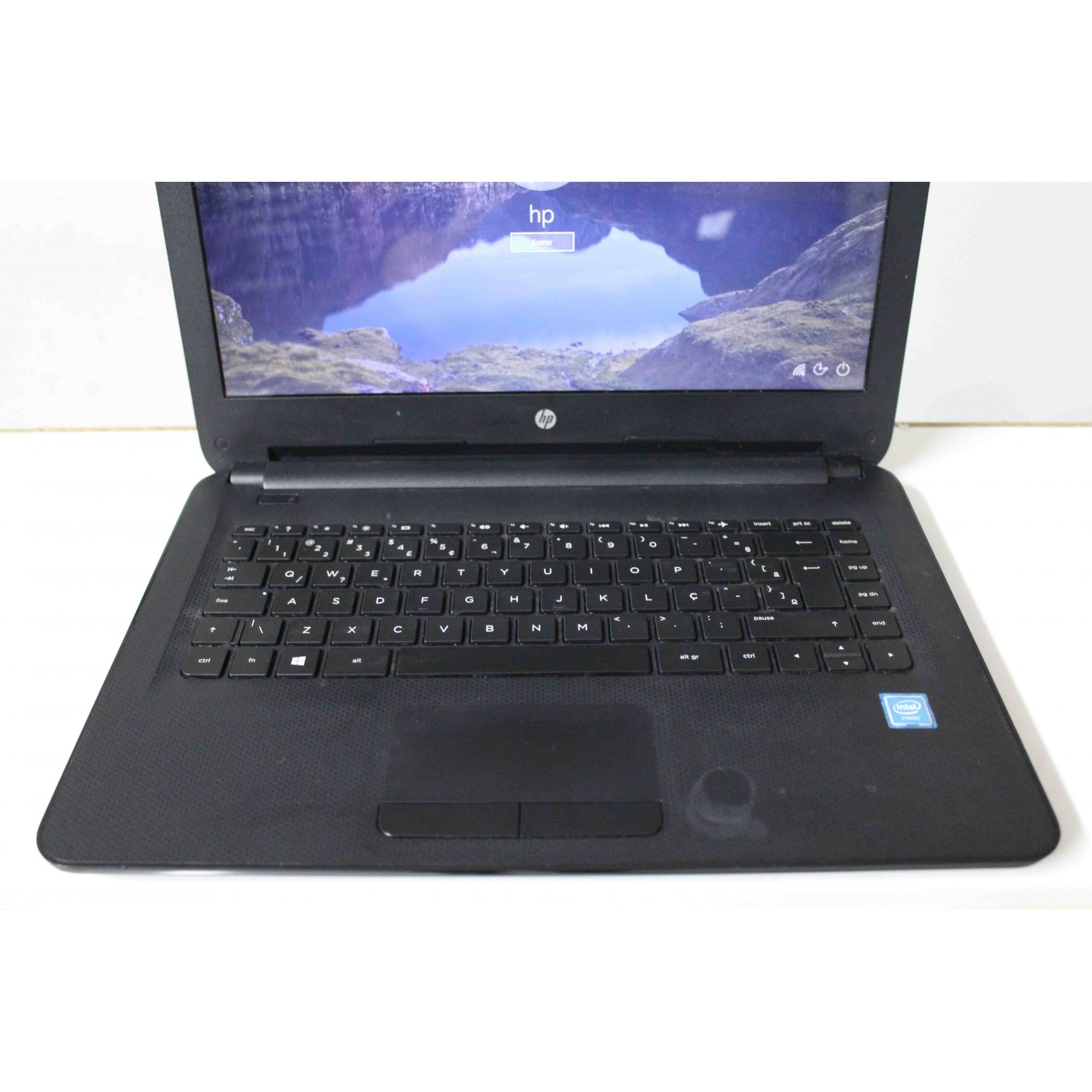 "Notebook HP 14-AC102BR 14"" Intel Cel 1.60 GHz 4GB HD-500GB"