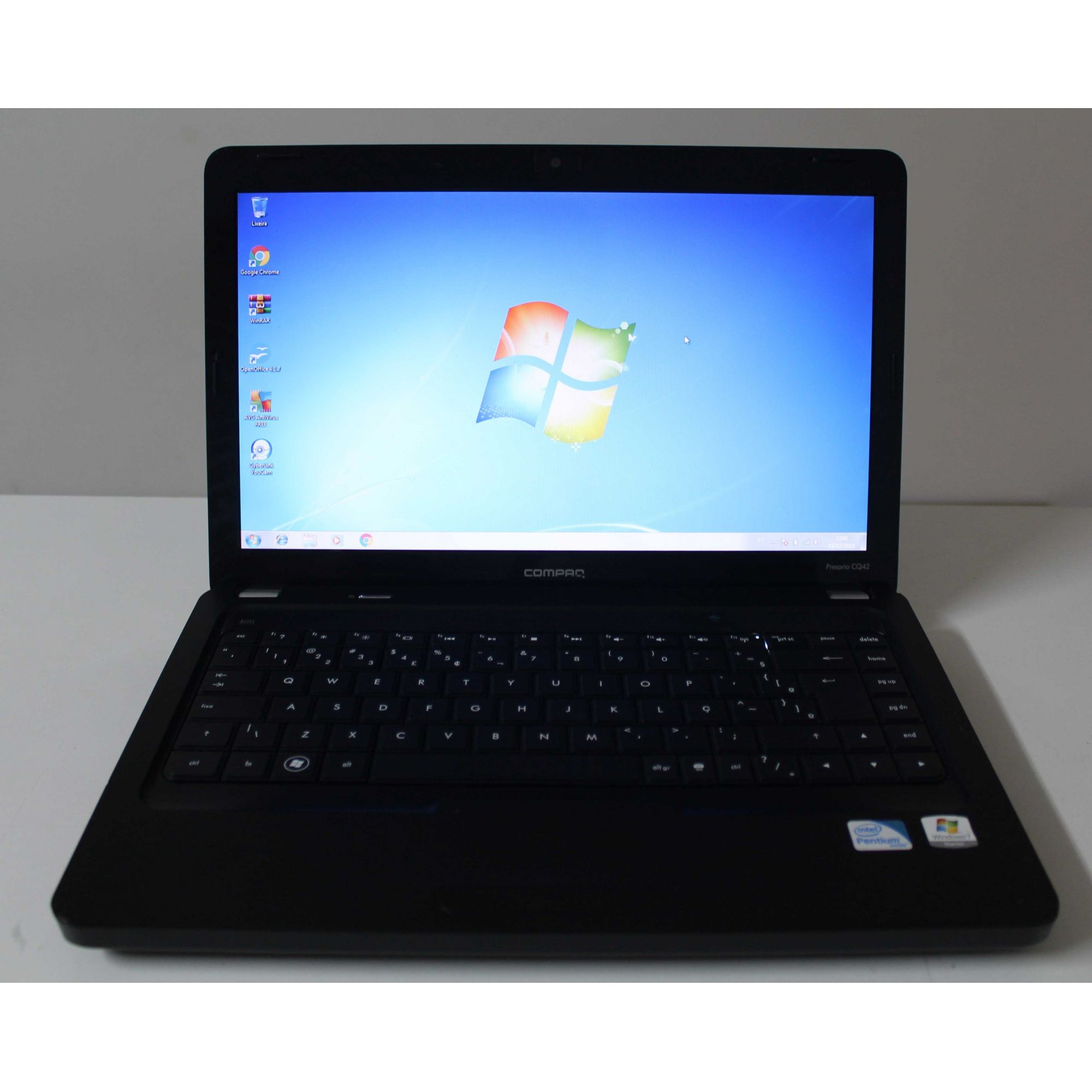 "Notebook HP Compaq Presario CQ42 14"" Dual Core 2.3GHz 4GB HD-250GB"