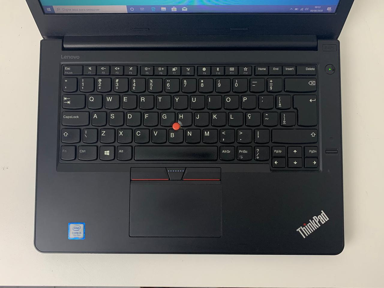 "Notebook Lenovo Thinkpad E470 14"" Intel Core i5 7ª geração 2.5GHz 8GB HD-1TB"