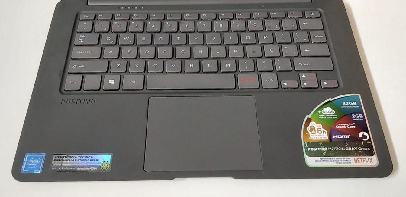 """Notebook Positivo Motion Q232A 14"""" Intel Atom 1.44GHz 2GB SSD-32GB (Não Enviamos)"""