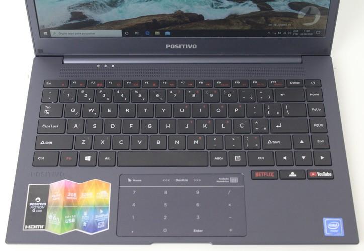 "Notebook Positivo Motion Q232B 14"" Intel Atom 1.44GHz 2GB SSD-32GB"