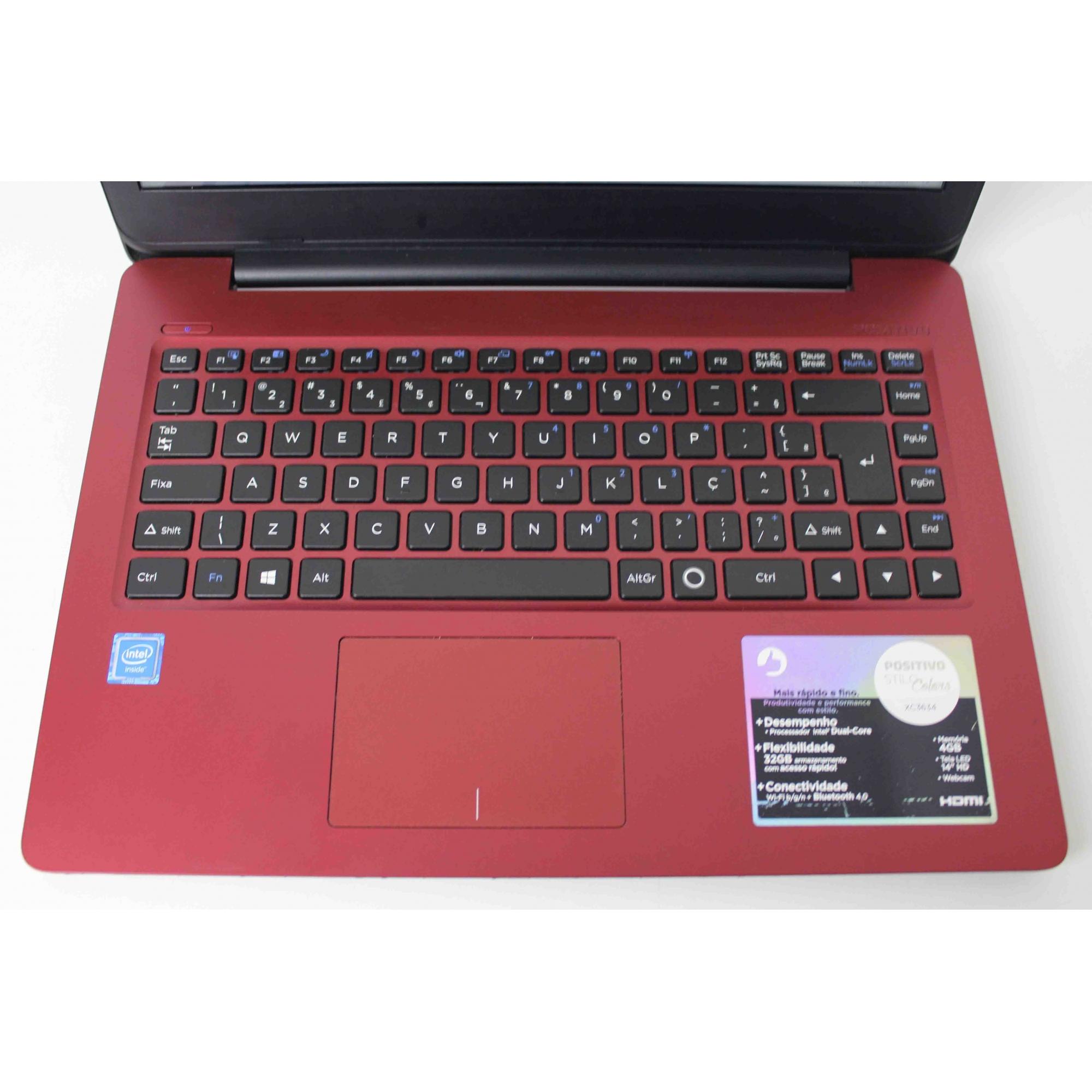 "Notebook Positivo Stilo Colors XC3634 14"" Dual-Core  4GB SSD-32GB"