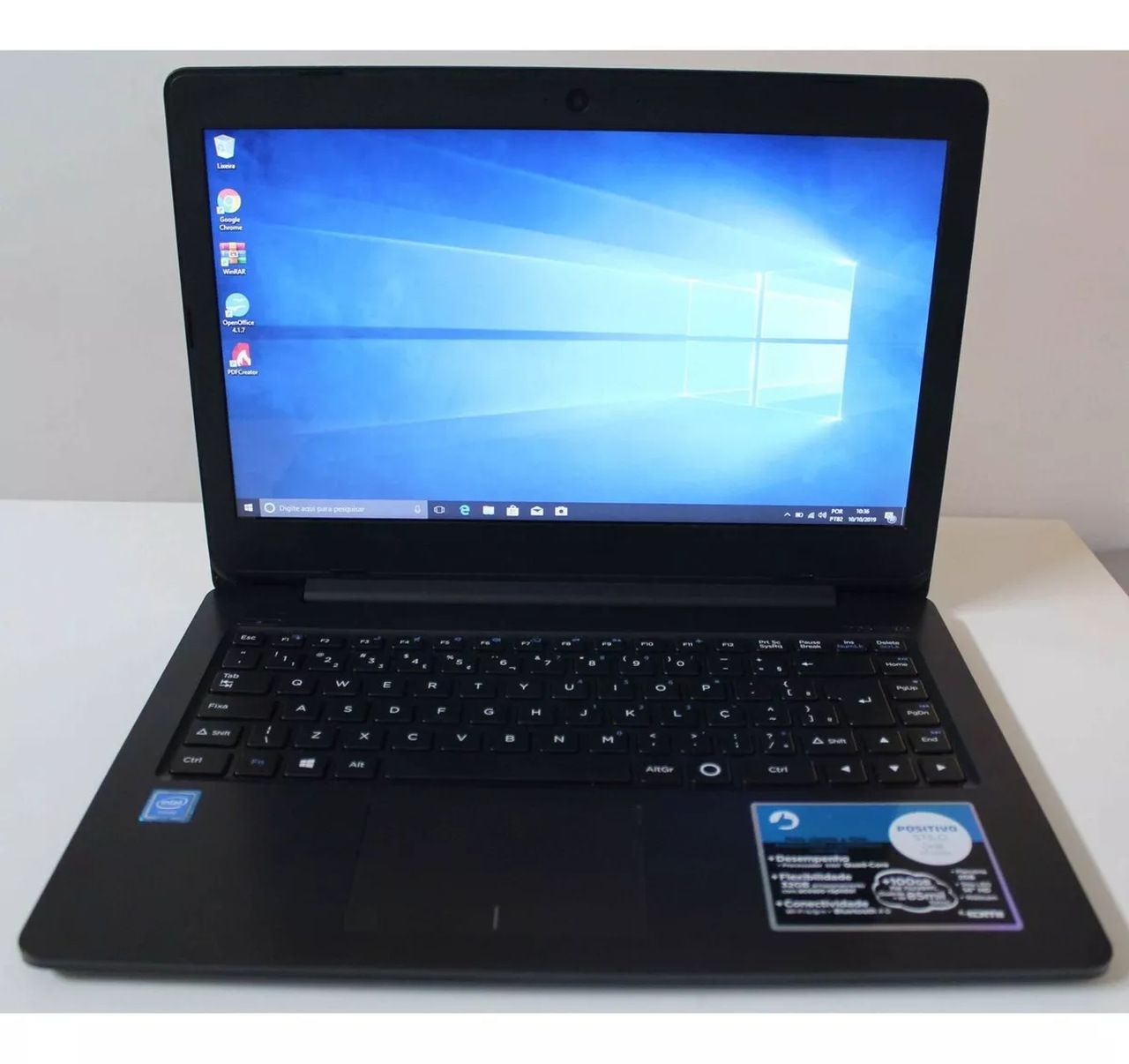 "Notebook Positivo Stilo One Xc3550 14"" Intel Atom1.44GHz 2GB HD-32GB"