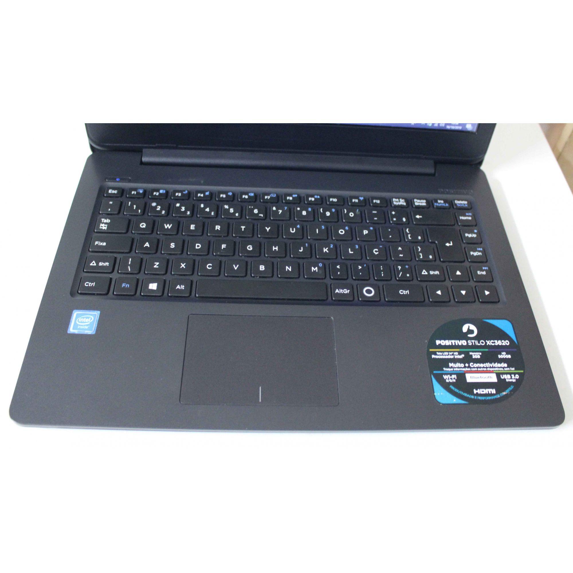 Notebook Positivo Stilo XC3620 14'' Intel Cel 1.04GHz 2GB HD-500GB