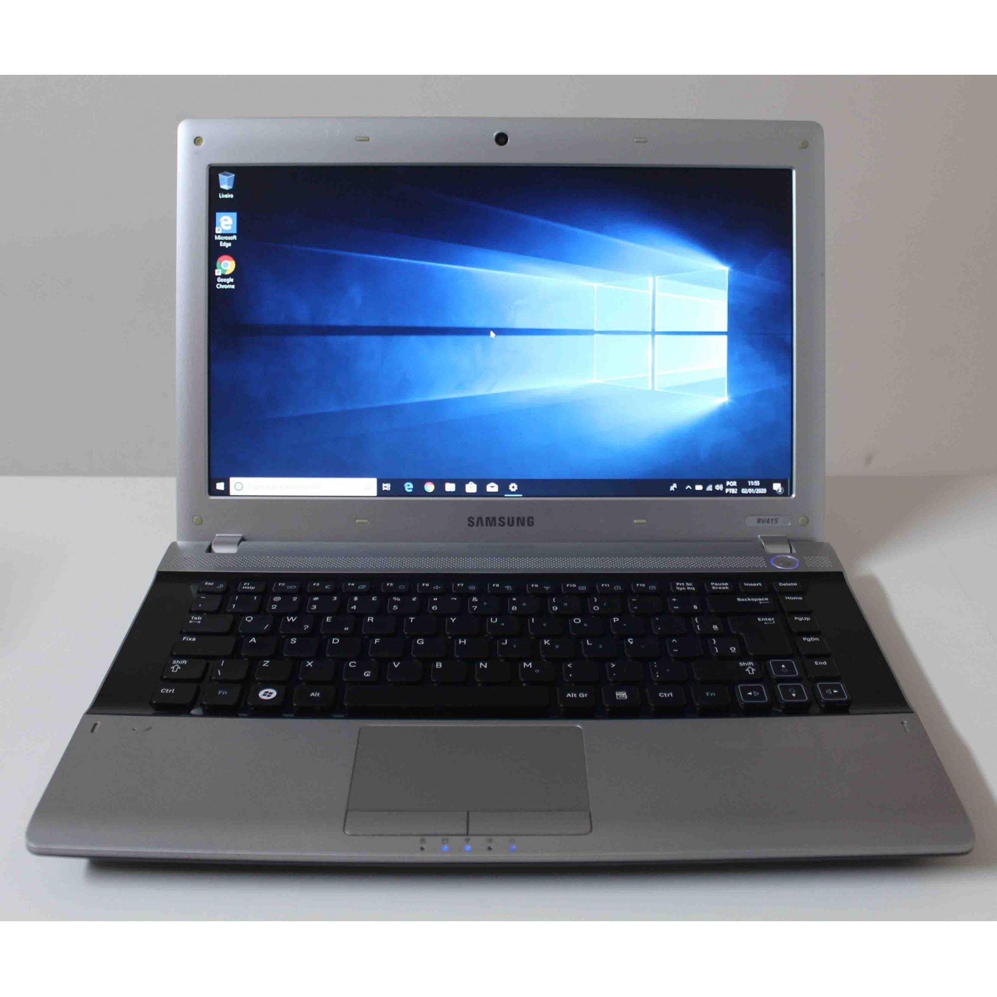 """Notebook Samsung RV415 - CD2BR 14"""" AMD E-300  1.3GHz 3GB HD-320GB"""