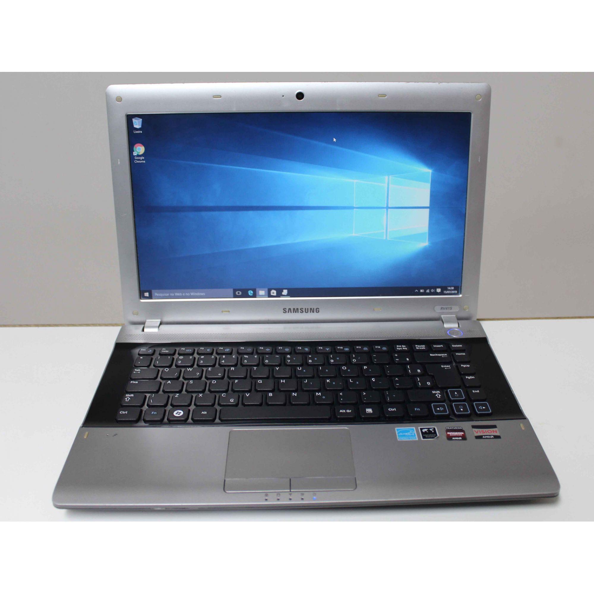 Notebook Samsung RV415 14'' AMD E-350 1.6GHz 4GB HD-320GB (Não Enviamos)