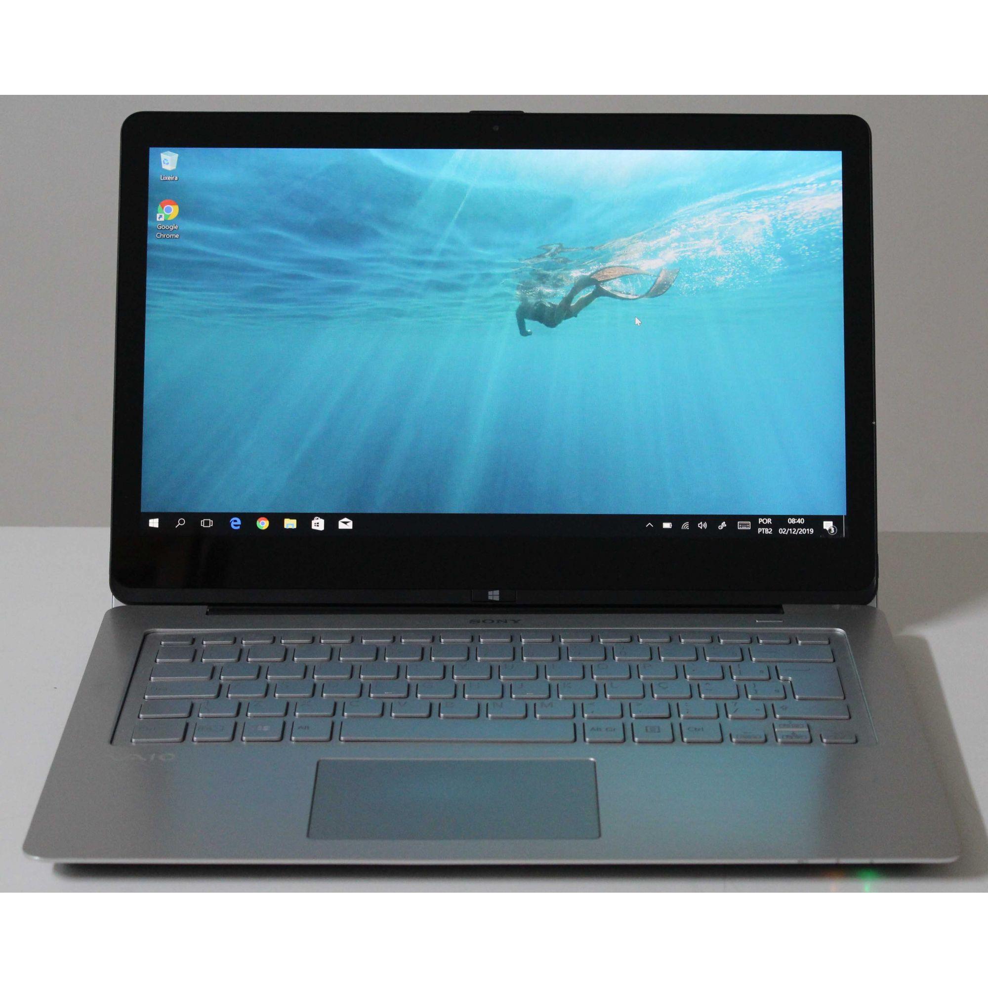 """Notebook Sony Vaio FIT-14A SVF14N13CBS 14"""" Intel i5 2.2GHz 8GB HD-750GB - Não enviamos"""