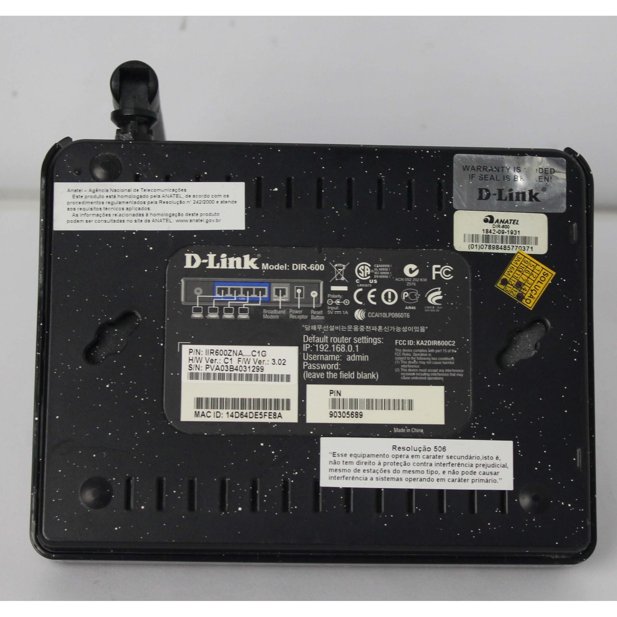 Roteador Wireless DIR-600 D-Link-150Mbps