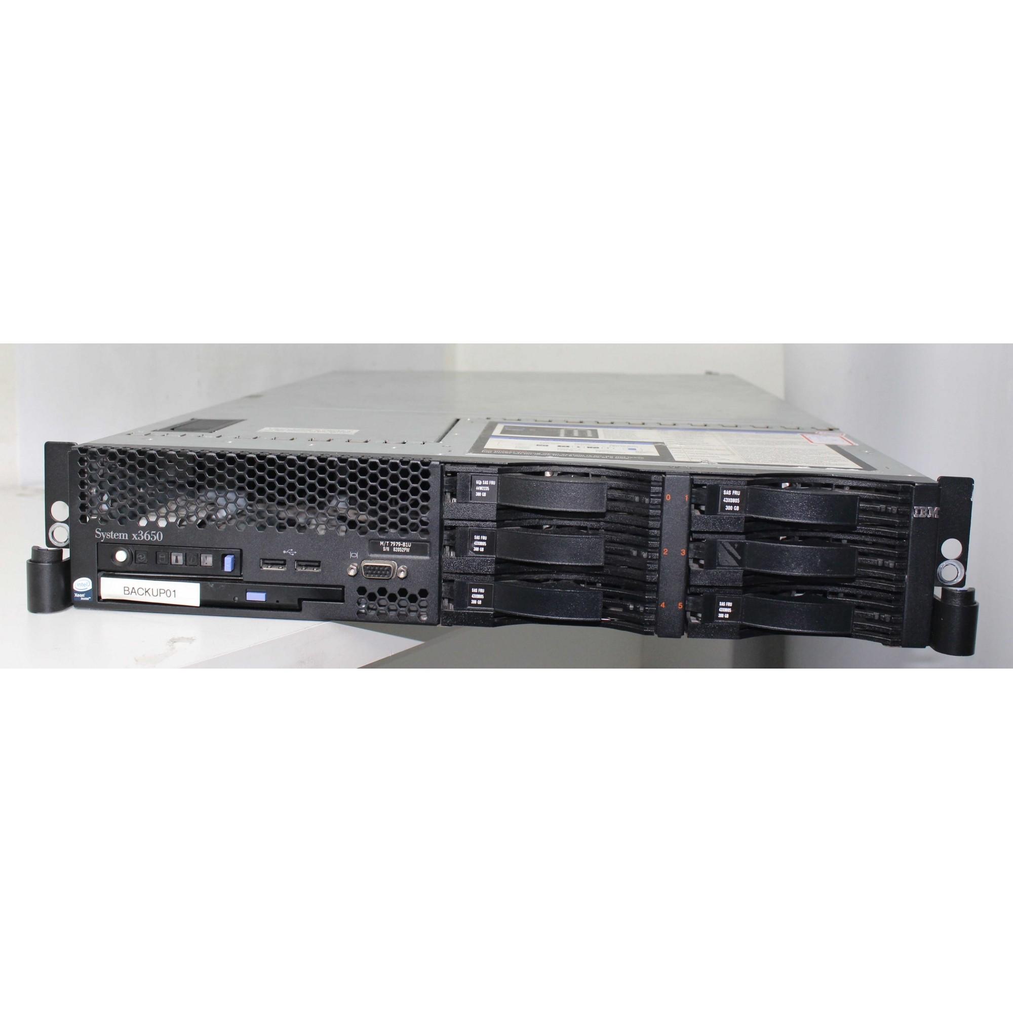 Servidor IBM System x3650 2X Intel Xeon 2GHz 16GB 5X HD-300GB (Não enviamos)