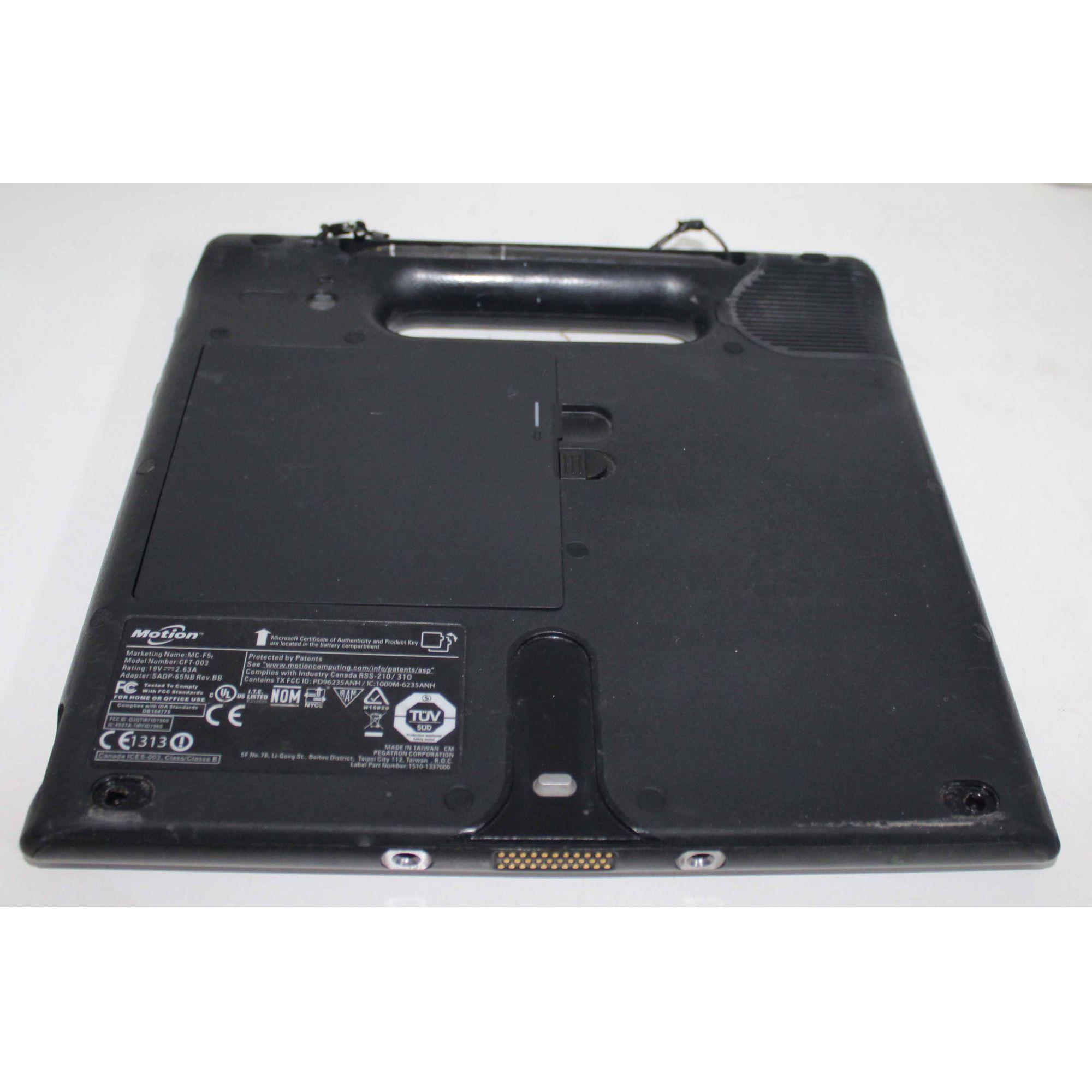 """Tablet Motion Rugged MC-F5T 10.4"""" Intel Core I7 2GHz 8GB HD-128GB - RFID + Leitor de Código de Barras"""