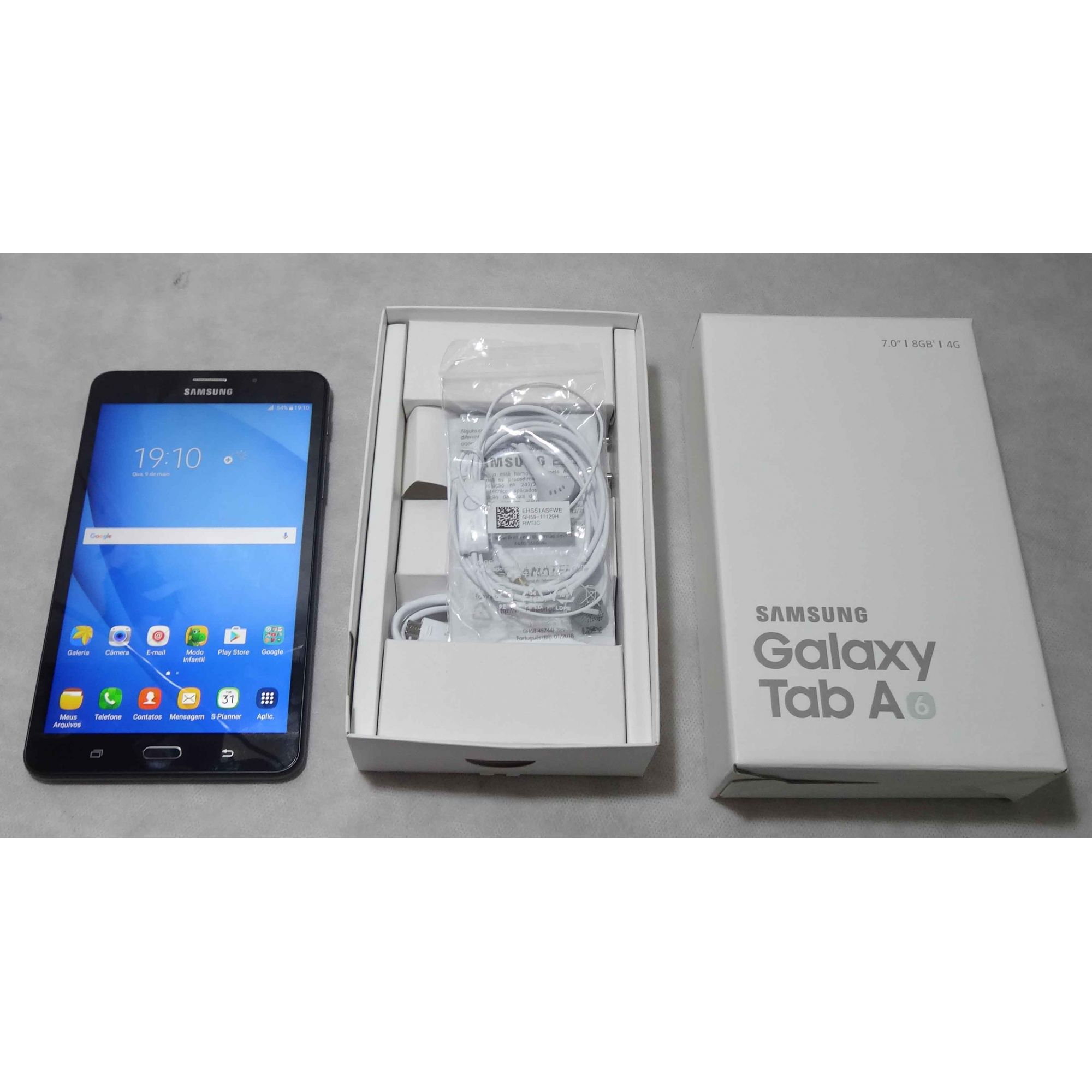 """Tablet Samsung Galaxy Tab A6 SM-T285M 7"""" 8GB, 3G/4G (Não Enviamos)"""