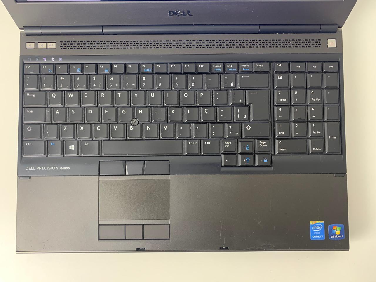 """Work Note Dell Precision M4800 15,6"""" Estação de Trabalho Core i7 2.8Ghz 8GB HD-1TB + 2GB Dedicada + Alphanumérico"""