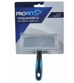 Rasqueadeira Reta c/ Bolinha Média - Propetz Azul