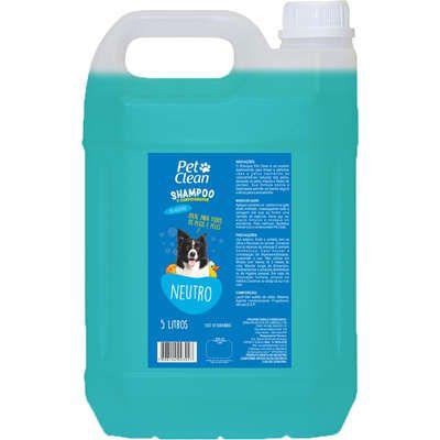 Shampoo e Condicionador Pet Clean Neutro para Cães - 5 Litros