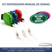 Kit Dispensador Manual de Senhas