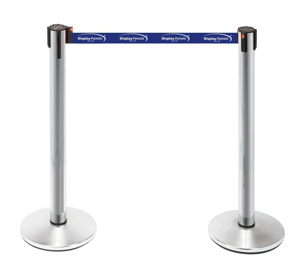 Pedestal Fita Personalizada - Demarcador Fila Neon Cromado - Código 10577