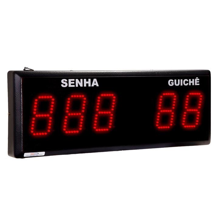 Painel Eletrônico de Senha Guichê - 5 Dígitos 100 mm - Código 4050