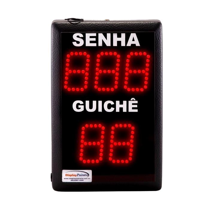 Painel Eletrônico de Senha Guichê - 5 Dígitos 50 mm - Código 4045