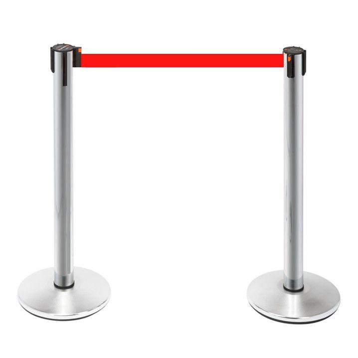 Pedestal - Demarcador Fila Neon Cromado