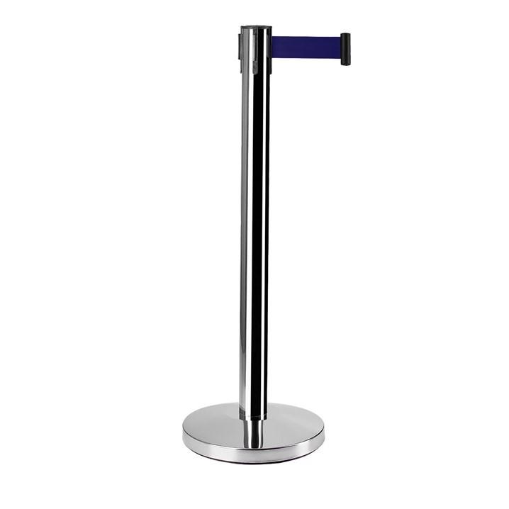 Pedestal Inox com Fita - Demarcador Fila