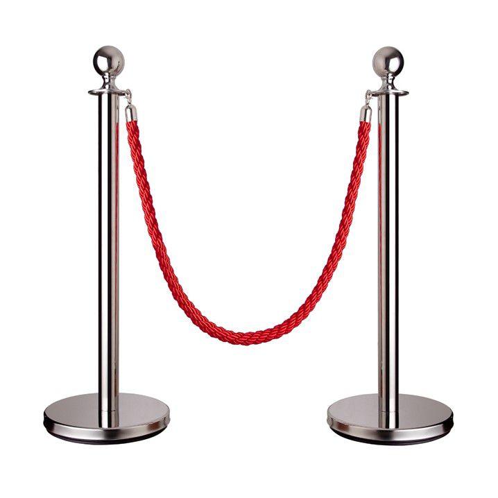 Pedestal Inox para Receber Corda - Código 100171