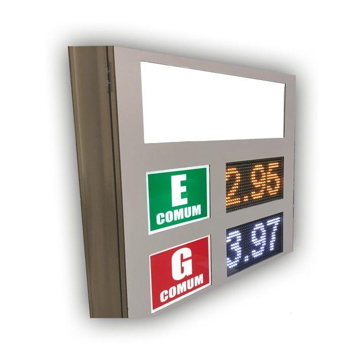 Totem de Preços Face Única - 5 Linhas 160 mm - Código 100138