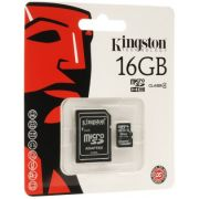 Cartão de Memória 16 GB SDHC - All-In-One (Micro/SD) - Kingston - PC FLORIPA