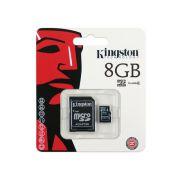 Cartão de Memória 8 GB SDHC - All-In-One (Micro/SD) - Kingston