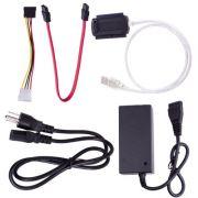Cabo conversor USB P/ IDE 2.5/3.5 / SATA + Fonte - PC FLORIPA