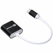 Adaptador USB C 2x P2 Vinik ADFMUSBTC - PC FLORIPA