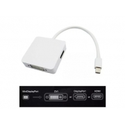 Cabo Adaptador Mini DisplayPort para DigiPort (DisplayPort / DVI / HDMI) - PC FLORIPA