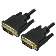 Cabo DVI Info  DVI-D 24+1 + DVI-D 24+1  Preto  2 Metros - PC FLORIPA