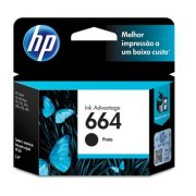 Cartucho HP Original 664 Preto - PC FLORIPA