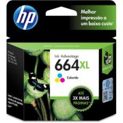 Cartucho HP Original 664XL Colorido - PC FLORIPA