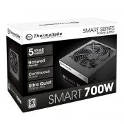Fonte ATX Thermaltake Smart 700W Real - PFC Ativo - 80 Plus White - PS-SPD-0700NPCWBZ-W - PC FLORIPA